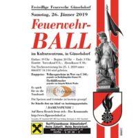 Radiospot (Eventankünder) für Günselsdorfer Feuerwehrball am 26 Jänner 2019
